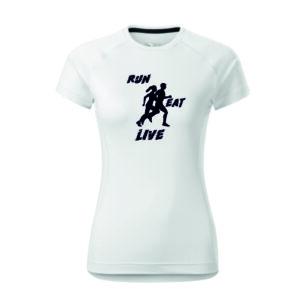 Női feliratos mintás futó póló