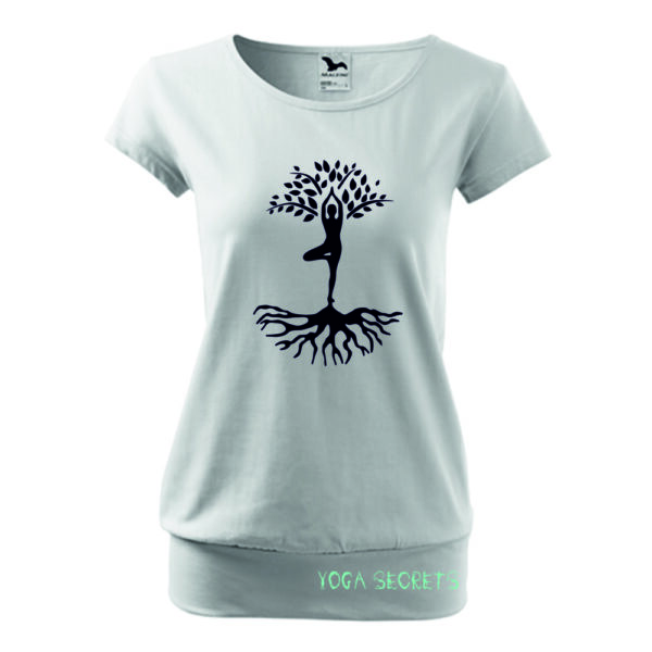 Laza szabású női jógás póló