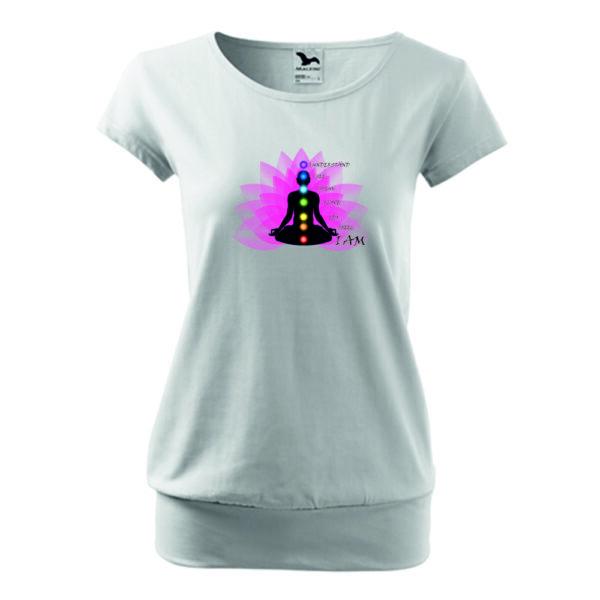 Yoga Secret csakra mintás női póló