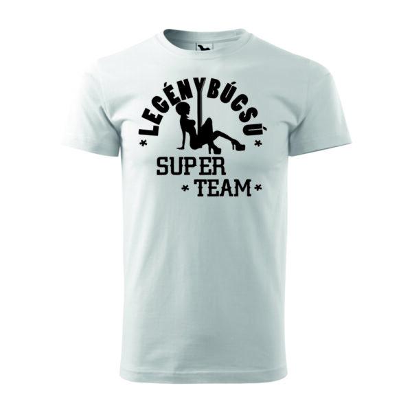 Legénybúcsú super team póló