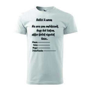 Címes feliratos legénybúcsú póló