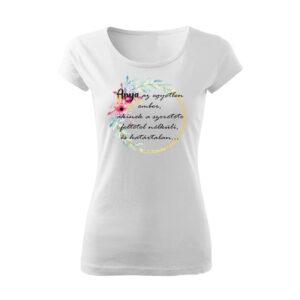 Idézetes virágos póló anyának