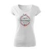 Legjobb keresztanyu mintás feliratos póló