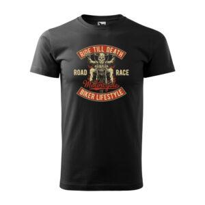 Ride till death fekete motoros póló