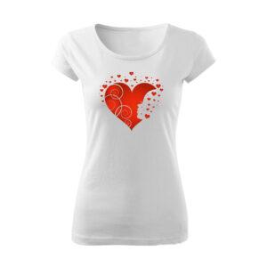 Szívecske mintás póló
