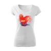 Szívecskés virágos mintás feliratos póló