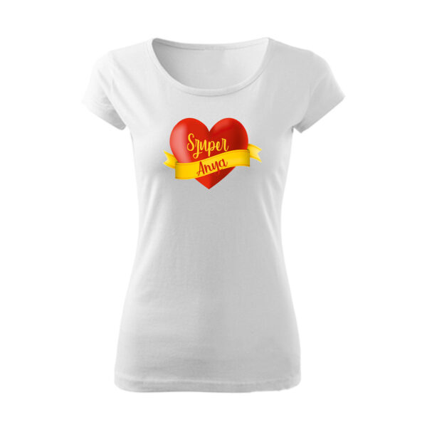 Szuper anya szívecske mintás póló