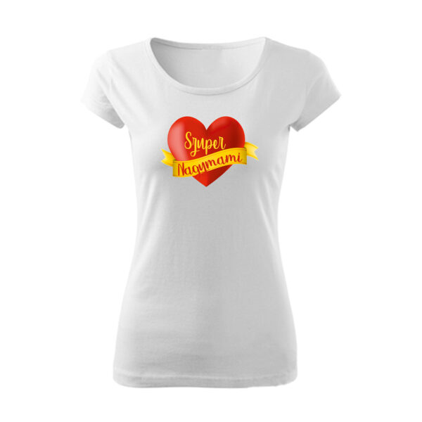 Szuper nagymami szívecske mintás póló