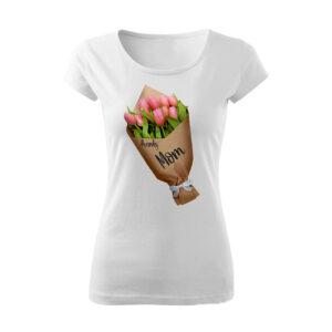 Tulipán virágcsokor mintás póló