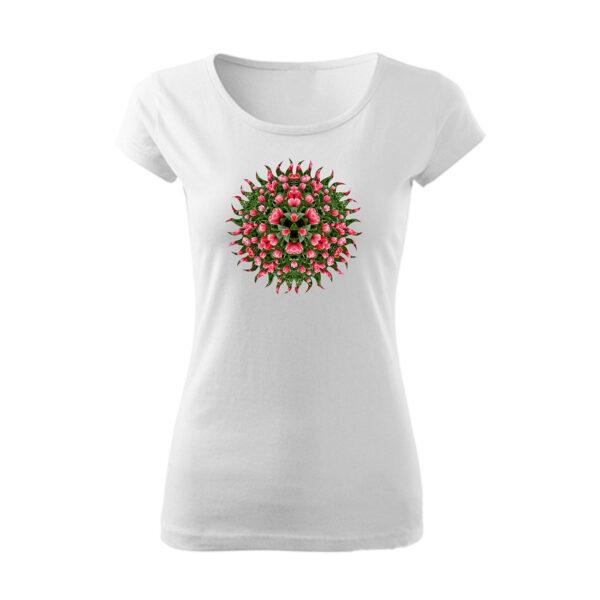 Virágos, mintás póló
