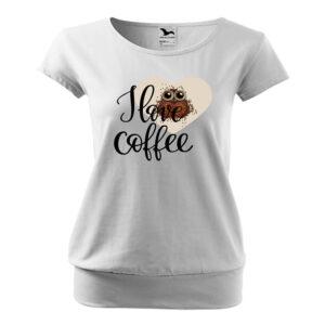 I love coffe bagoly póló