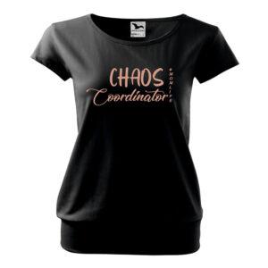 Chaos póló -rózsaszín felirattal