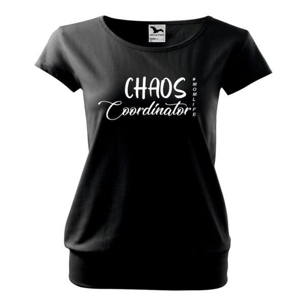 Chaos póló -fehér felirattal
