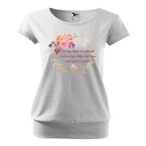 Momlife rózsás póló