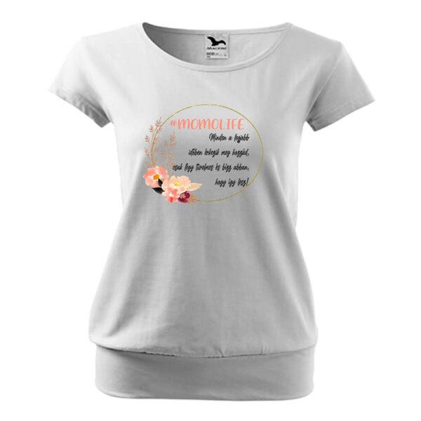 Momlife virágos póló