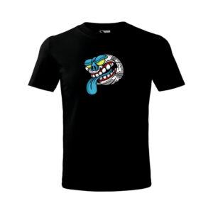 Halloween Baseball póló - fekete